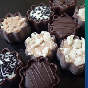 Difference between chocolate and cacao: chocolate contains a lot of sugar!