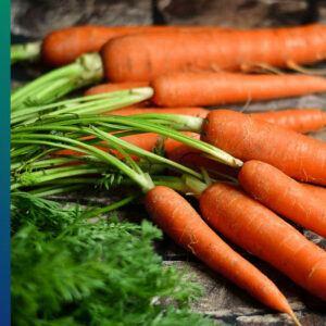 Orange food: carrots