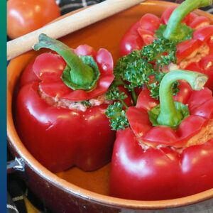 Red bell pepper full of antioxidants