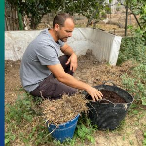 RMDS Red Murciana de Semillas. Compost pile