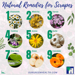 Infographic Natural Remedies for Scrapes