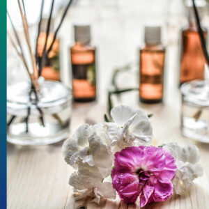 The fragrances of essential oils are lovely
