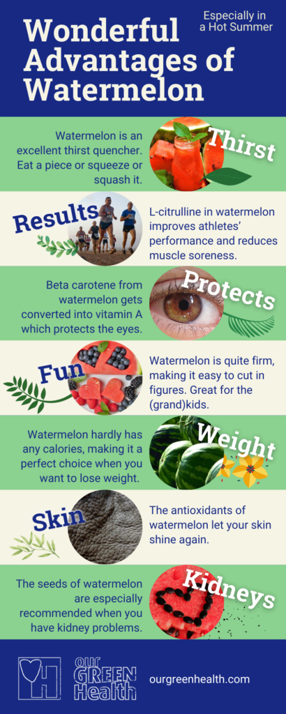 Infographic Advantages of Watermelon