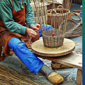 Weaving baskets at home
