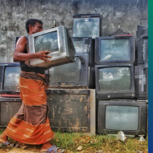 Where is the e-waste dumped?