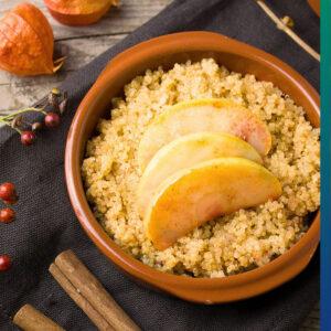 Dietary fiber in quinoa and apple