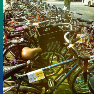 Parked bicycles, train station, Breda, the Netherlands