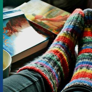 Cosy socks in winter