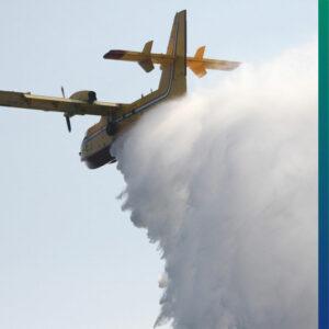 Spraying airplane